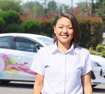 西多摩自動車学校 上原 萌々指導員『1時限1時限スキルアップできるよう盛り上げていきます!』